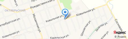 Поворот на карте Барнаула