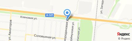 АЗТБ-заливка теплого бетона на карте Барнаула