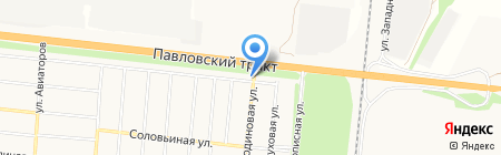 Победа на карте Барнаула