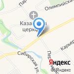 Бумеранг на карте Барнаула