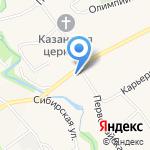 Власта на карте Барнаула