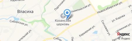 Фонограф на карте Барнаула