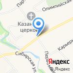 Почтовое отделение №26 на карте Барнаула