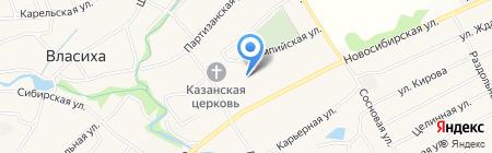 Городская поликлиника №12 на карте Барнаула