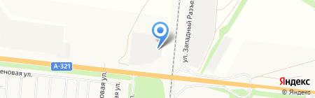 Эвакуационная служба на карте Барнаула