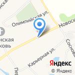Магазин фруктов и кондитерских изделий на карте Барнаула