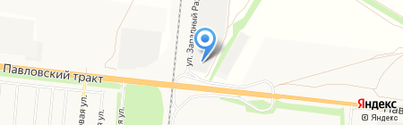 Стройматериалы на Павловском на карте Барнаула