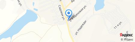 Куб на карте Барнаула
