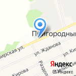Мясной на карте Барнаула