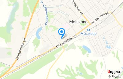 Местоположение на карте пункта техосмотра по адресу Новосибирская обл, рп Мошково, ул Вокзальная, д 23/3В
