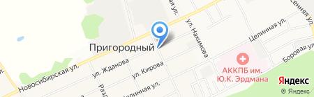 Ирина на карте Барнаула