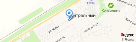 Олюр на карте Барнаула