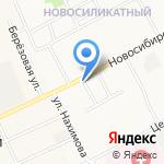 Киоск по продаже мягкого мороженого на карте Барнаула