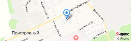 Прославление на карте Барнаула