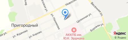 Центр развития творчества детей и юношества Индустриального района на карте Барнаула