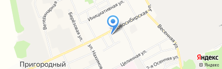 Тортест на карте Барнаула