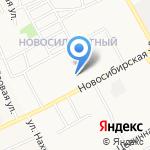 Средняя общеобразовательная школа №50 на карте Барнаула