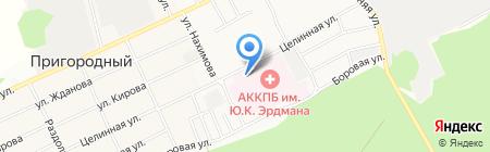 Алтайская краевая клиническая психиатрическая больница им. Ю.К. Эрдмана на карте Барнаула