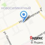 Перламутр на карте Барнаула