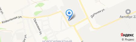 Алмет на карте Барнаула