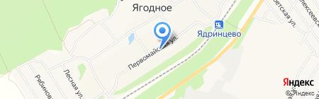 Ардеко на карте Барнаула