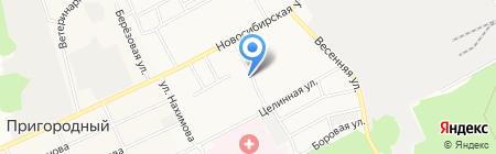 Баня №8 на карте Барнаула