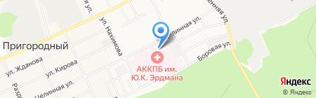 Главное бюро медико-социальной экспертизы по Алтайскому краю на карте Барнаула