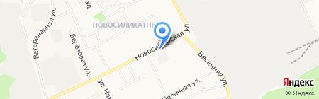 Сеть салонов оптики на карте Барнаула