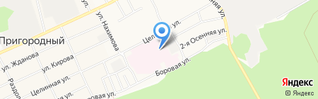Ярко на карте Барнаула