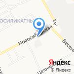 Библиотека №14 на карте Барнаула