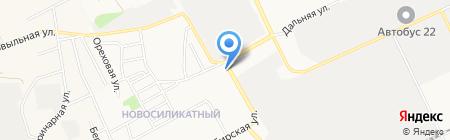 Авто-союз на карте Барнаула