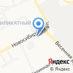 Киоск по изготовлению ключей и заточке инструмента на карте Барнаула