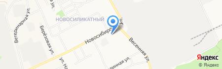 Магазин хозяйственных товаров на Весенней на карте Барнаула