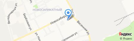 Елена на карте Барнаула