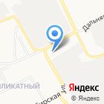 Лесосибирь на карте Барнаула