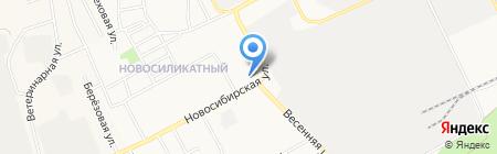 Автостоянка на Новосибирской на карте Барнаула