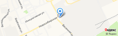 Новосиликатное территориальное Управление Администрации Индустриального района на карте Барнаула