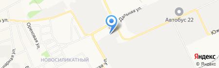 Климат+ на карте Барнаула