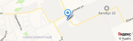 ССТ на карте Барнаула