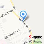 Апрель на карте Барнаула