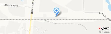 Крафт-бетон на карте Барнаула
