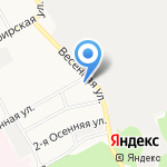 Радуга на карте Барнаула