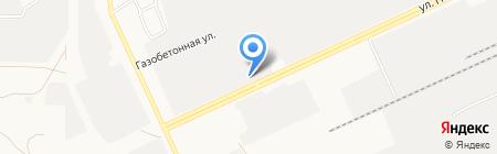 Постр на карте Барнаула