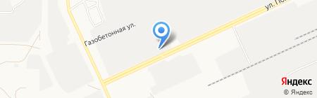 Мустанг-Сибирь на карте Барнаула