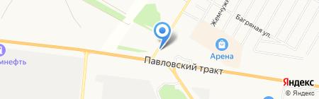 Сибирский металлоцентр на карте Барнаула