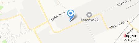 Алтайские семечки на карте Барнаула