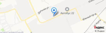 Сателлит на карте Барнаула