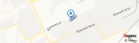 Диаф на карте Барнаула