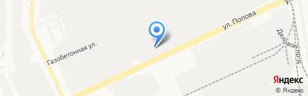Президент-Нева на карте Барнаула