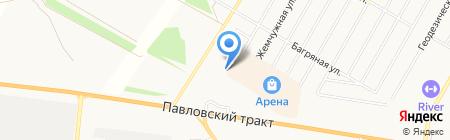 Банкомат Райффайзенбанк на карте Барнаула